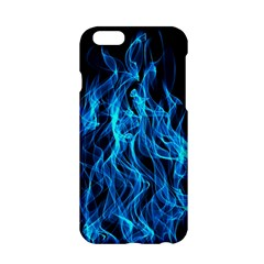 Digitally Created Blue Flames Of Fire Apple Iphone 6/6s Hardshell Case by Simbadda