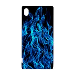 Digitally Created Blue Flames Of Fire Sony Xperia Z3+ by Simbadda