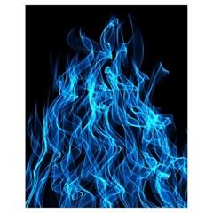 Digitally Created Blue Flames Of Fire Drawstring Bag (small) by Simbadda