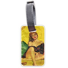 Pin Up Girl  Luggage Tags (two Sides) by Valentinaart