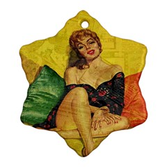 Pin Up Girl  Snowflake Ornament (two Sides) by Valentinaart