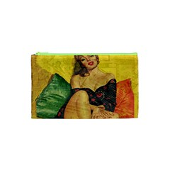 Pin Up Girl  Cosmetic Bag (xs) by Valentinaart
