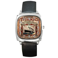 Titanic Square Metal Watch by Valentinaart