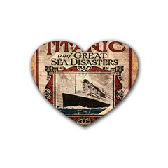 Titanic Heart Coaster (4 Pack)  by Valentinaart