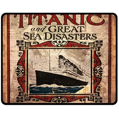 Titanic Fleece Blanket (medium)  by Valentinaart