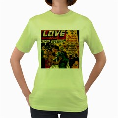 Love Stories Women s Green T Shirt