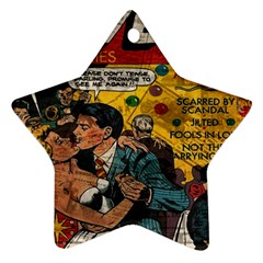 Love Stories Star Ornament (two Sides) by Valentinaart