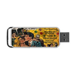 Love Stories Portable Usb Flash (one Side) by Valentinaart