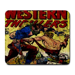 Western Thrillers Large Mousepads by Valentinaart