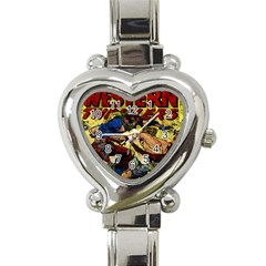 Western Thrillers Heart Italian Charm Watch by Valentinaart