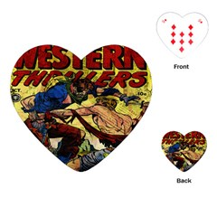 Western Thrillers Playing Cards (heart)  by Valentinaart