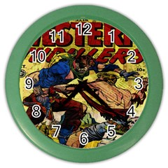 Western Thrillers Color Wall Clocks by Valentinaart
