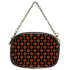 Dollar Sign Graphic Pattern Chain Purses (one Side)  by dflcprints