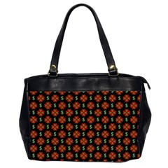 Dollar Sign Graphic Pattern Office Handbags (2 Sides)  by dflcprints