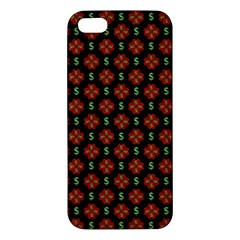 Dollar Sign Graphic Pattern Apple Iphone 5 Premium Hardshell Case by dflcprints