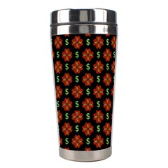 Dollar Sign Graphic Pattern Stainless Steel Travel Tumblers by dflcprints