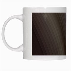 Fractal Background With Grey Ripples White Mugs by Simbadda
