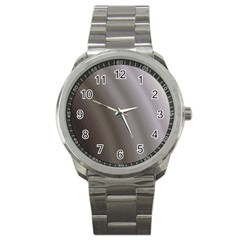 Fractal Background With Grey Ripples Sport Metal Watch by Simbadda