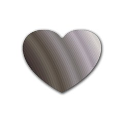 Fractal Background With Grey Ripples Rubber Coaster (heart)  by Simbadda