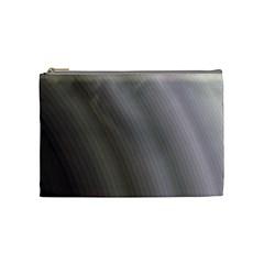 Fractal Background With Grey Ripples Cosmetic Bag (medium)  by Simbadda