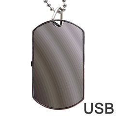 Fractal Background With Grey Ripples Dog Tag Usb Flash (two Sides) by Simbadda