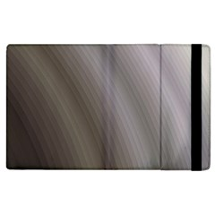 Fractal Background With Grey Ripples Apple Ipad 2 Flip Case by Simbadda