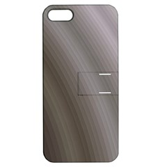 Fractal Background With Grey Ripples Apple Iphone 5 Hardshell Case With Stand by Simbadda