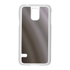 Fractal Background With Grey Ripples Samsung Galaxy S5 Case (white) by Simbadda