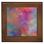 Rainbow Clouds Framed Tile