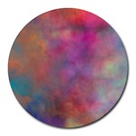 Rainbow Clouds Round Mousepad