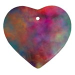 Rainbow Clouds Ornament (Heart)