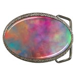 Rainbow Clouds Belt Buckle