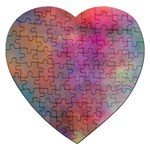 Rainbow Clouds Jigsaw Puzzle (Heart)