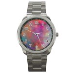 Rainbow Clouds Sport Metal Watch