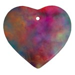 Rainbow Clouds Heart Ornament (Two Sides)