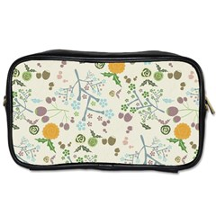 Floral Kraft Seamless Pattern Toiletries Bags by Simbadda