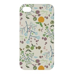 Floral Kraft Seamless Pattern Apple Iphone 4/4s Hardshell Case by Simbadda