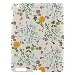 Floral Kraft Seamless Pattern Apple Ipad 3/4 Hardshell Case by Simbadda