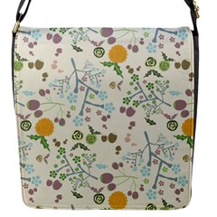 Floral Kraft Seamless Pattern Flap Messenger Bag (s) by Simbadda