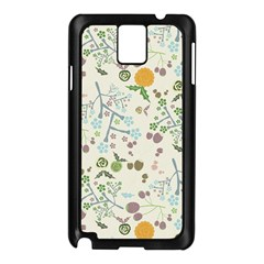 Floral Kraft Seamless Pattern Samsung Galaxy Note 3 N9005 Case (black) by Simbadda