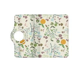 Floral Kraft Seamless Pattern Kindle Fire Hd (2013) Flip 360 Case by Simbadda