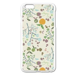 Floral Kraft Seamless Pattern Apple Iphone 6 Plus/6s Plus Enamel White Case by Simbadda