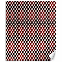 Squares Red Background Canvas 20  X 24   by Simbadda