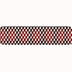 Squares Red Background Large Bar Mats by Simbadda