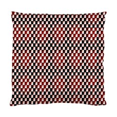 Squares Red Background Standard Cushion Case (one Side) by Simbadda