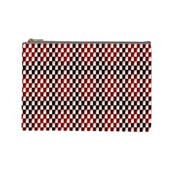 Squares Red Background Cosmetic Bag (large)  by Simbadda