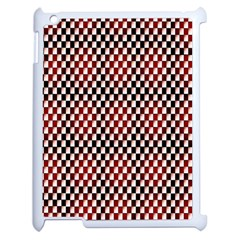 Squares Red Background Apple Ipad 2 Case (white) by Simbadda