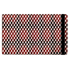 Squares Red Background Apple Ipad 3/4 Flip Case by Simbadda