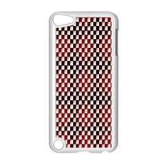 Squares Red Background Apple Ipod Touch 5 Case (white) by Simbadda