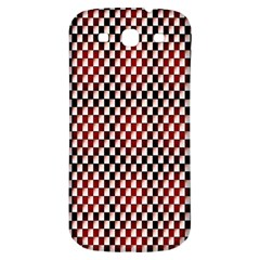 Squares Red Background Samsung Galaxy S3 S Iii Classic Hardshell Back Case by Simbadda